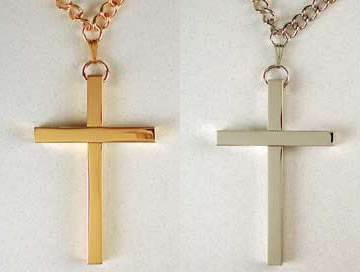 Gold or Silver Plated Latin Pectoral Cross